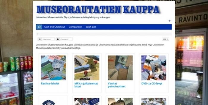 New Online Shop of Jokioinen Museum Railway is open!