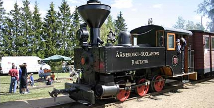 H.K. Porter steam locomotive at Minkiö