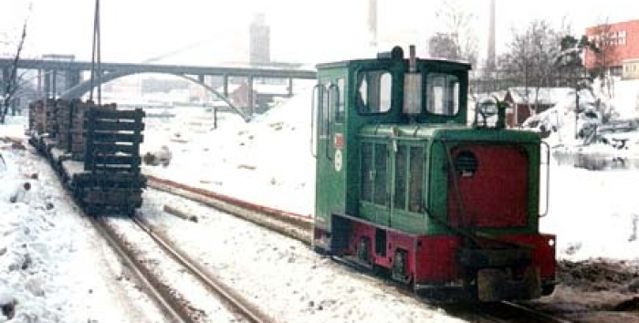 Schoma diesel locomotive at Nokia paper mill
