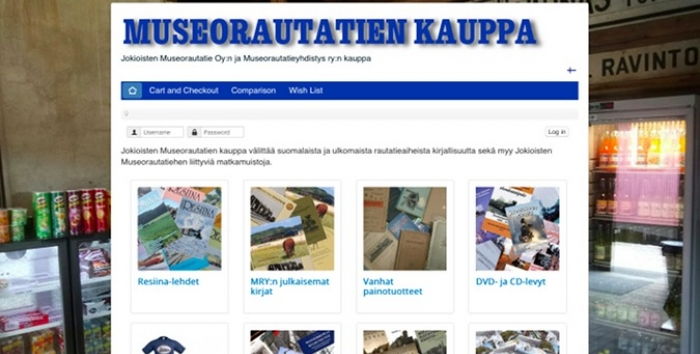 Photo of Jokioinen Museum Railway web shop.